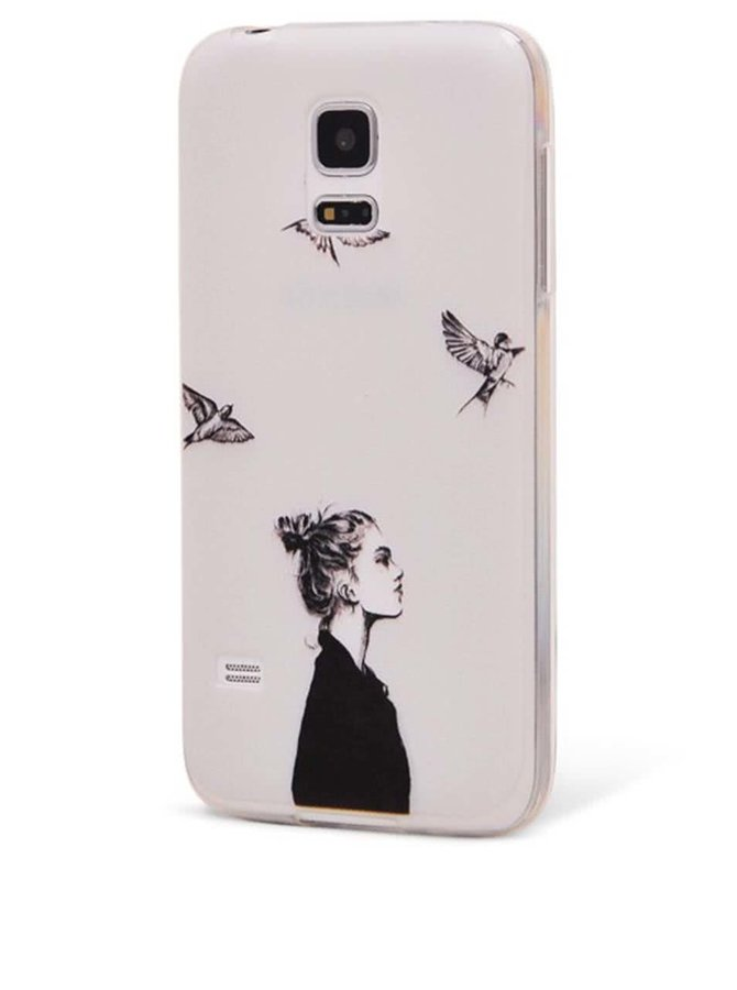 Biely ochranný kryt na Samsung Galaxy S5 mini Epico in The Sky