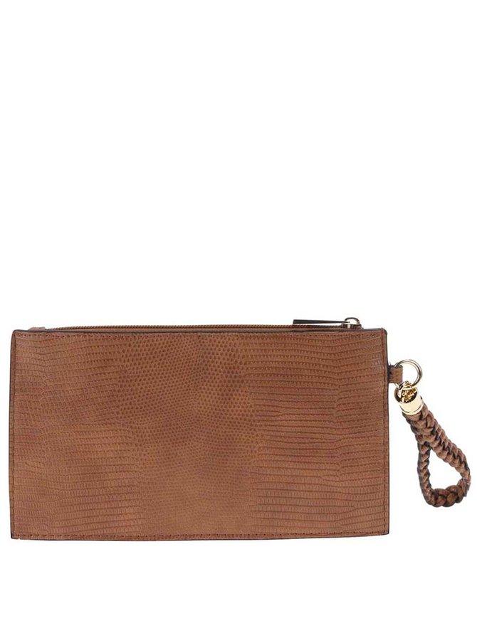 Hnedá listová kabelka na zips s pútkom Dorothy Perkins