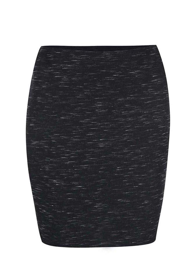 Čierna žíhaná sukňa New Look