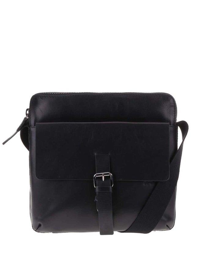 Strellson Scott Men's Black Leather Crossbody Bag