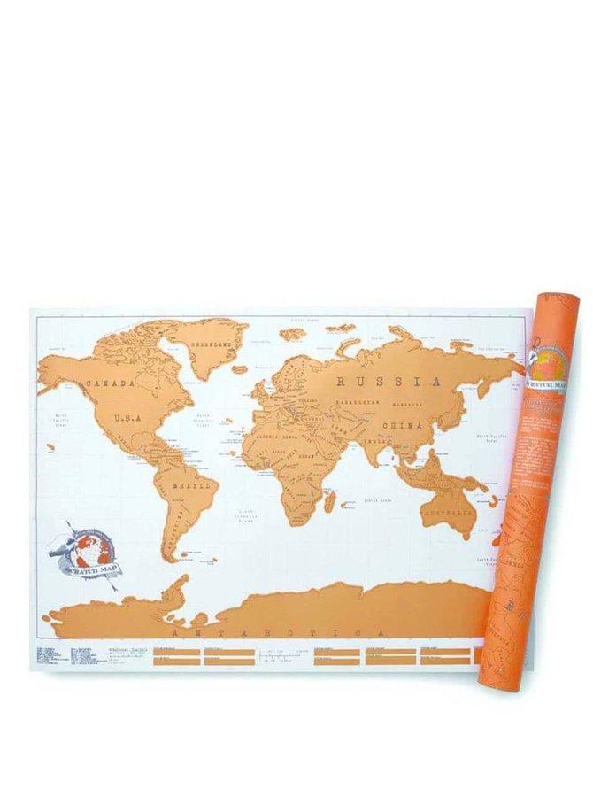 Veľká stieracia nástenná mapa Luckies