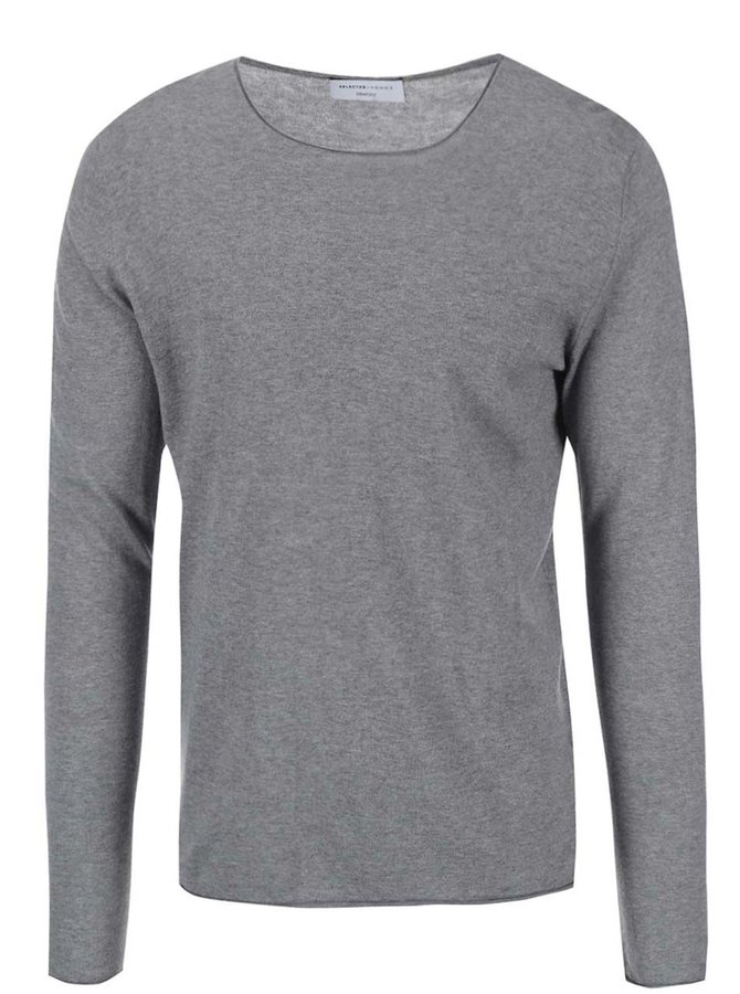 Selected Homme Dome Grey Melange Jumper
