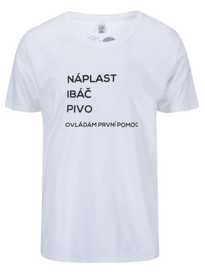 """""""Dobré"""" bílé pánské triko pro PrPom"""
