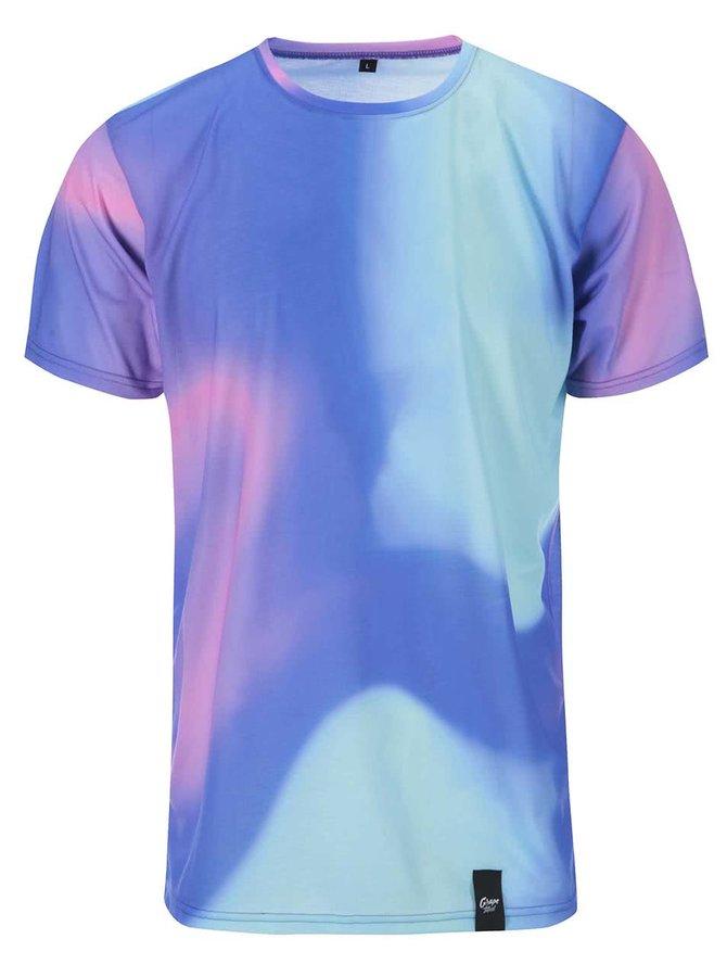 Fialovo-modré pánske celopotlačené tričko Grape Dúha