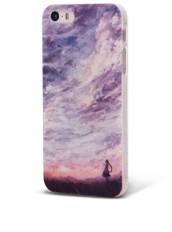 Fialový ochranný kryt na iPhone 5/5s Epico Fine Art