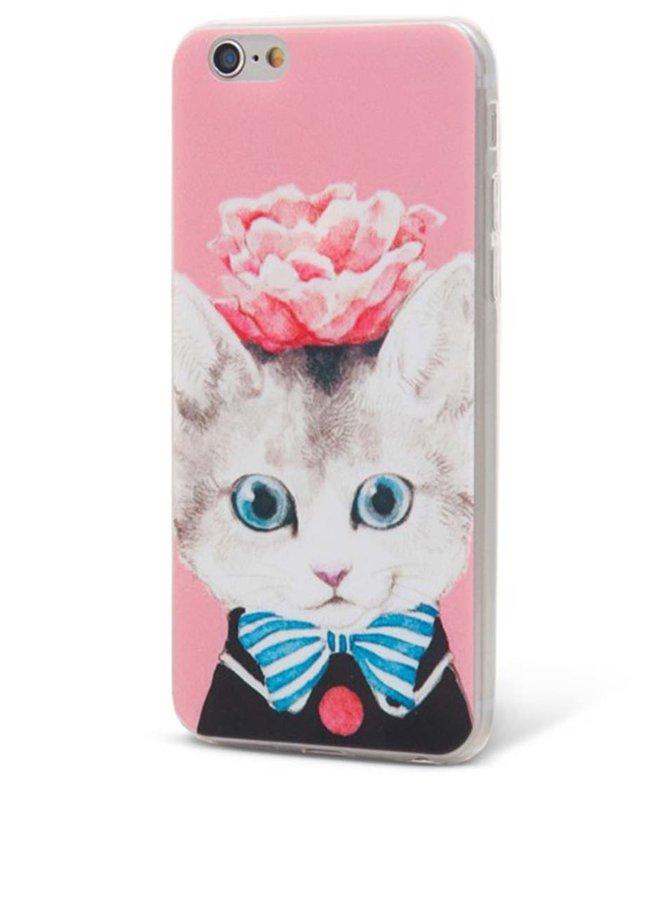 Ružový ochranný kryt na iPhone 6/6s Epico Cat & Roses