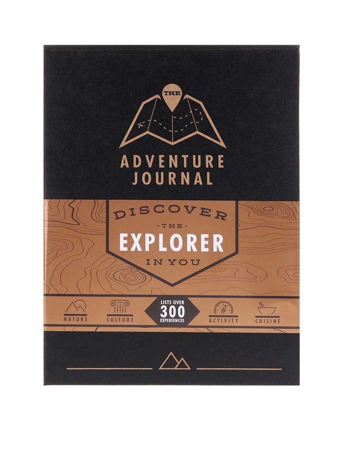 Čierny cestovný informatívny denník so stieracími mapami Luckies Adventure Journal
