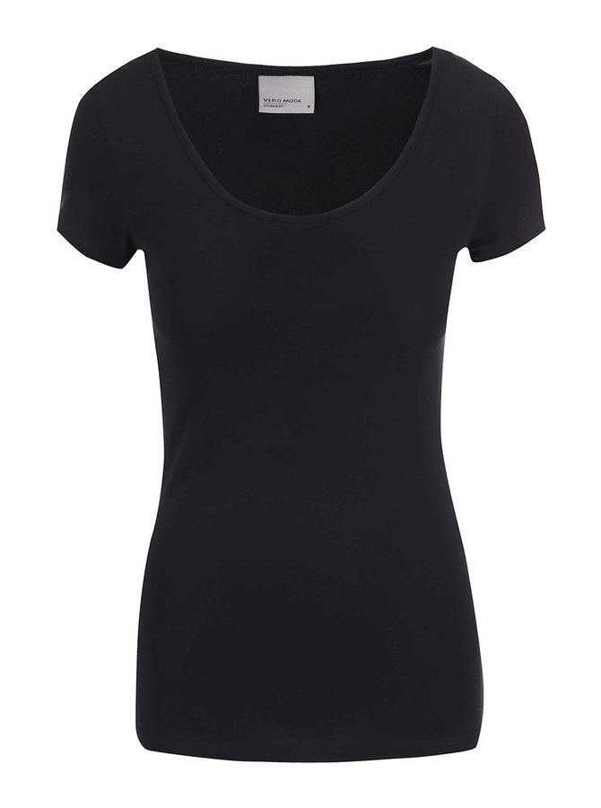 Černé tričko s kulatým výstřihem Vero Moda Maxi My