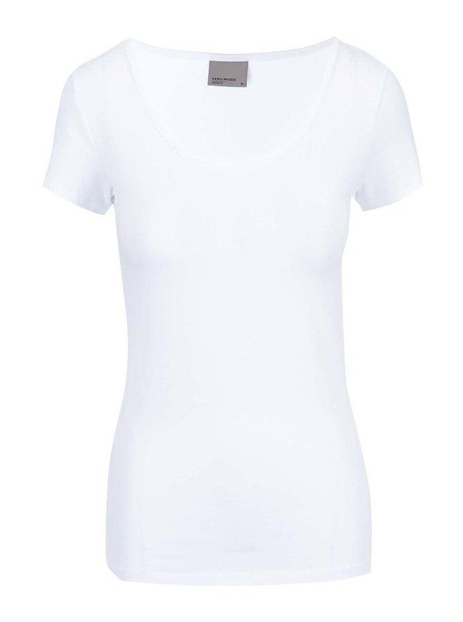Biele tričko s okrúhlym výstrihom Vero Moda Maxi My