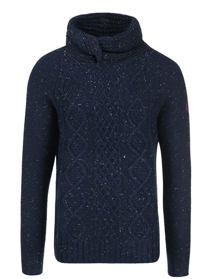Tmavomodrý sveter s rolákom Blend