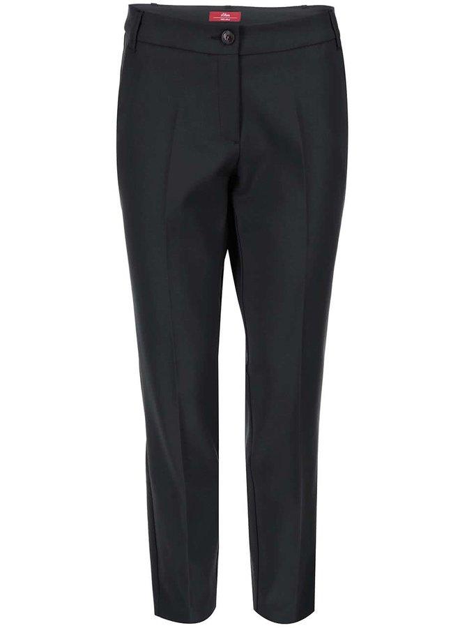 Čierne nohavice s pukmi s.Oliver