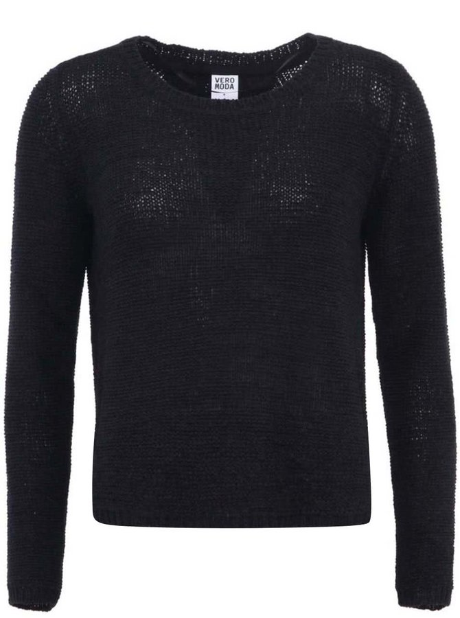 Černý svetr s vykrojenými zády Vero Moda Risa
