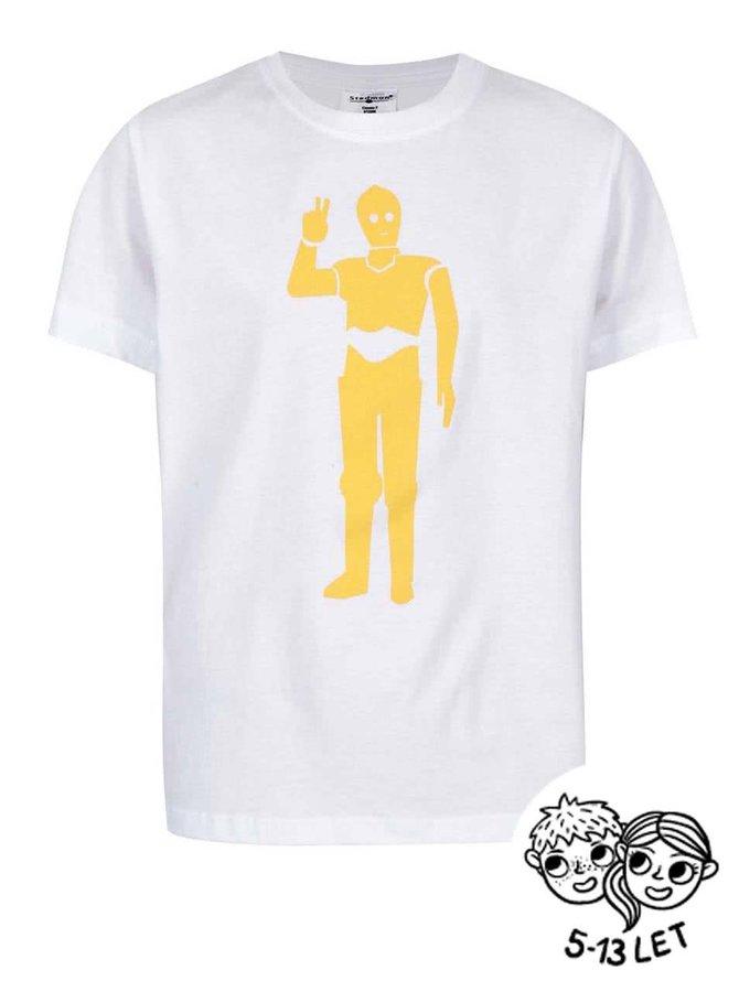 Biele detské tričko ZOOT Kids Droid