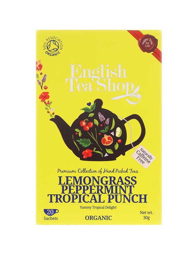 Ceai din lămâiță, mango și fructe tropicale organic English Tea Shop
