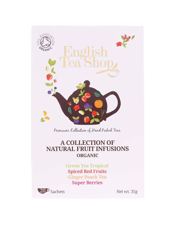 Mix de ceaiuri din fructe organice English Tea Shop Bio
