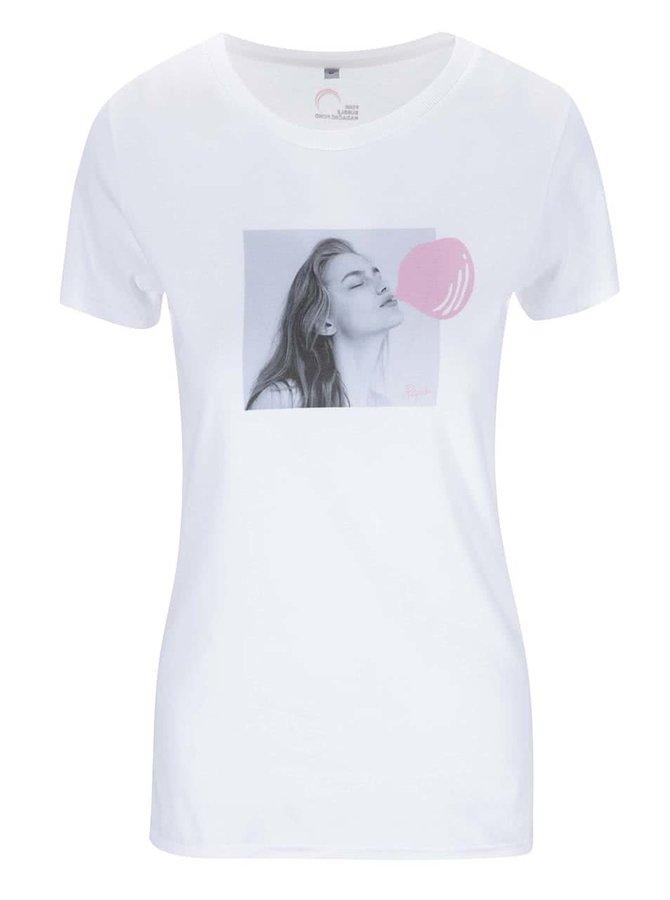 """""""Dobré"""" biele dámske tričko pre Pink Bubble Aneta Pajak"""