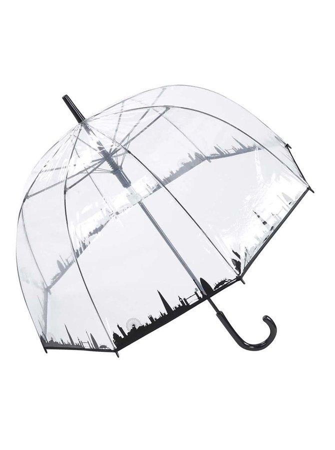 Priehľadný dáždnik s panorámou Londýna Lindy Lou Skyline