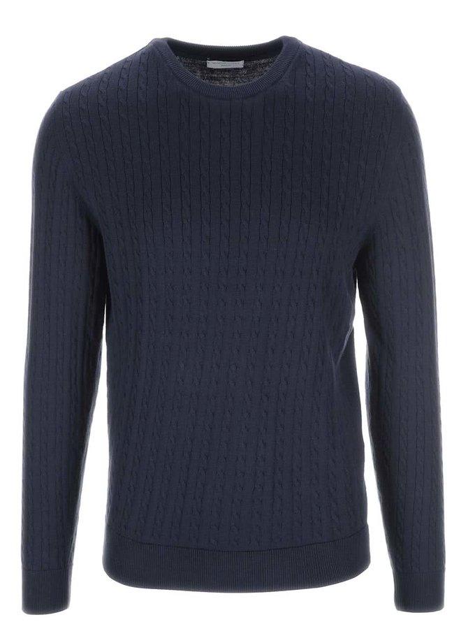 Tmavomodrý sveter Selected Clay