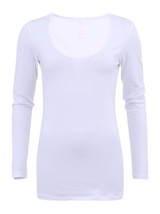 Bílé tričko s dlouhým rukávem ONLY Live Love