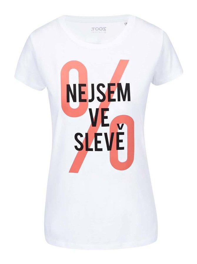 Bílé dámské tričko ZOOT Originál Nejsem ve slevě