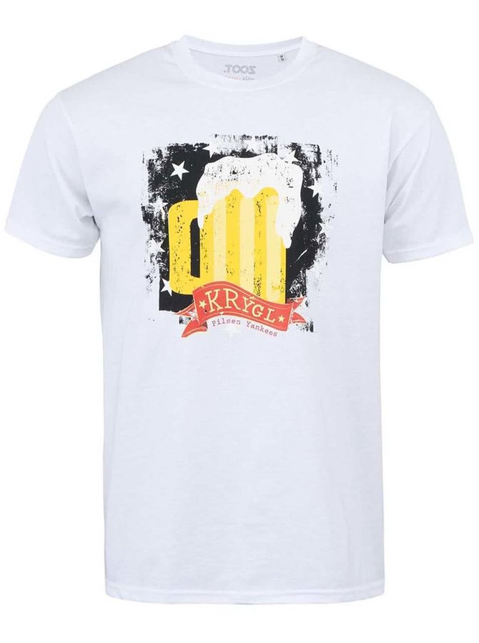 Bílé pánské tričko s potiskem ZOOT Živá ulice Krýgl