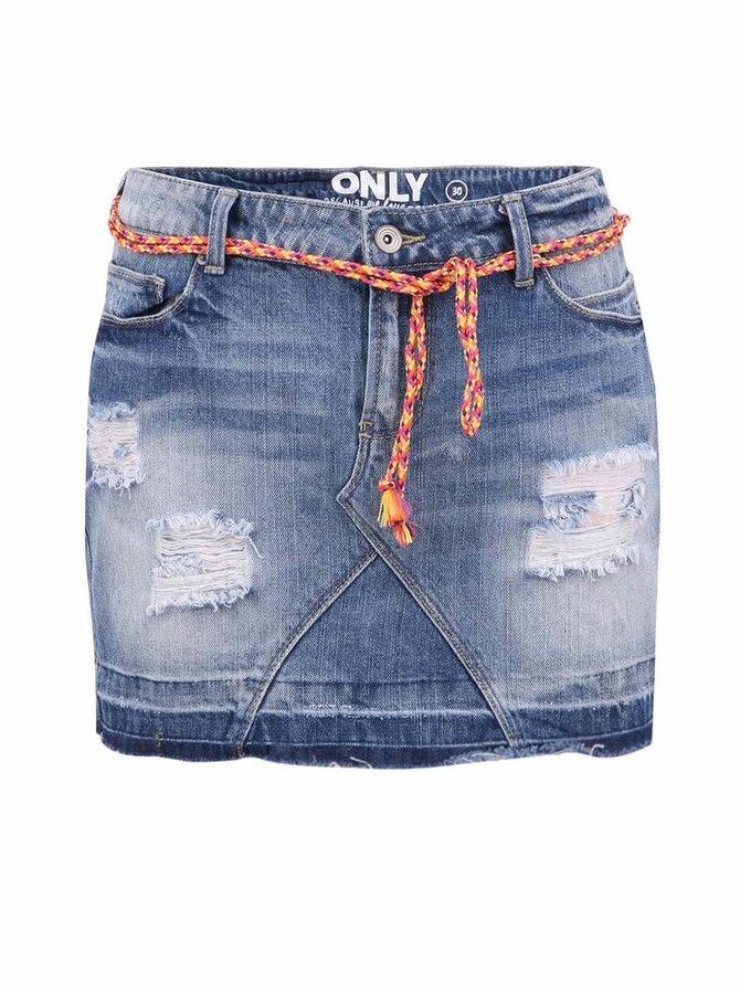 Modrá džínová sukně ONLY Rosie