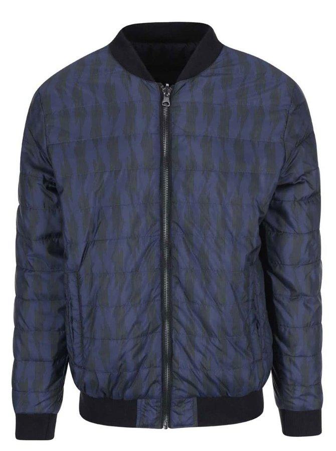 Tmavě modrá vzorovaná bunda Casual Friday by Blend