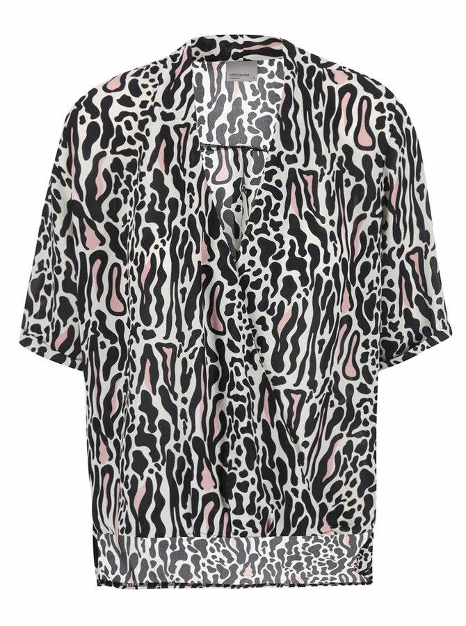 Krémová vzorovaná blúzka Vero Moda Bali