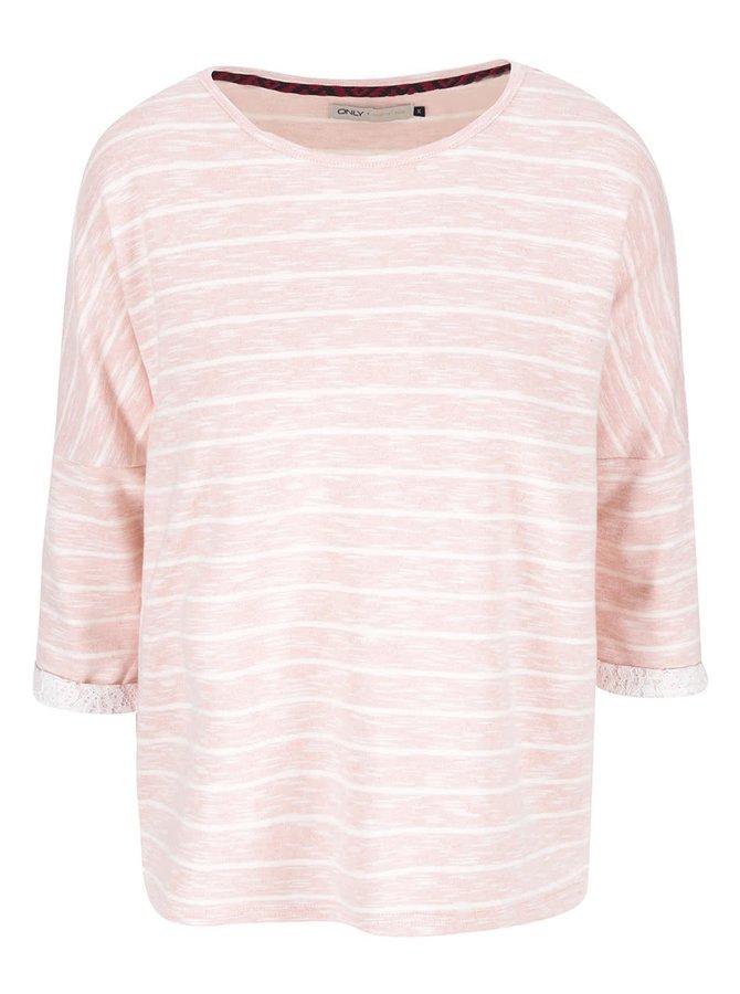 Bluză coral cu mâneci tăiate ONLY Sybil