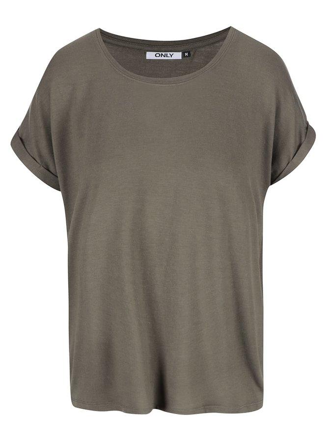 Khaki oversize tričko ONLY Moster