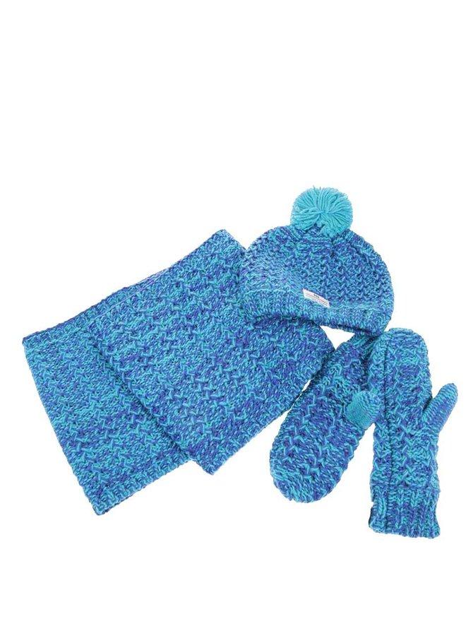 Set de iarnă de damă albastru cu turcoaz HORSEFEATHERS Amy