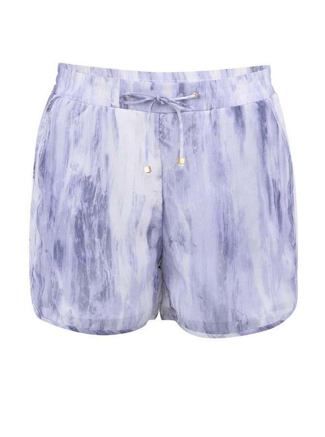 Bílo-fialové kraťasy Vero Moda Marble