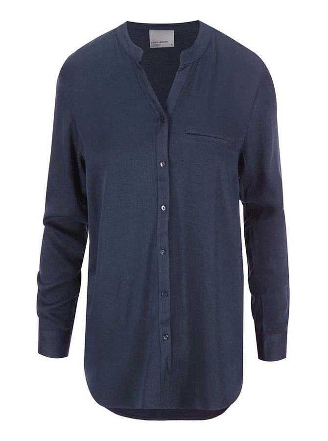 Tmavomodrá košeľa Vero Moda Measy