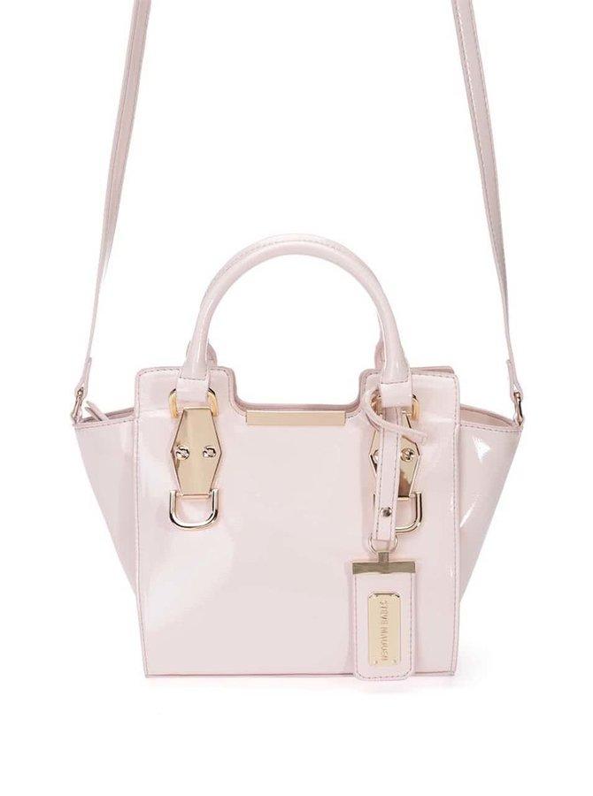 Růžová menší lesklá kabelka Steve Lax