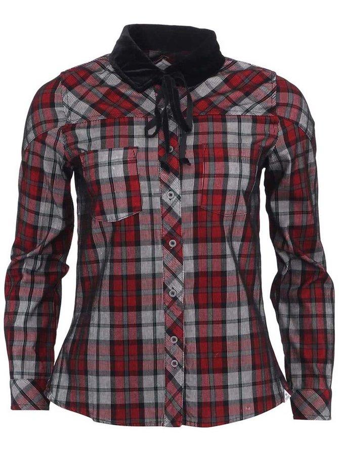 Čierno-červená dámska kockovaná košeľa Bellfield Ruza