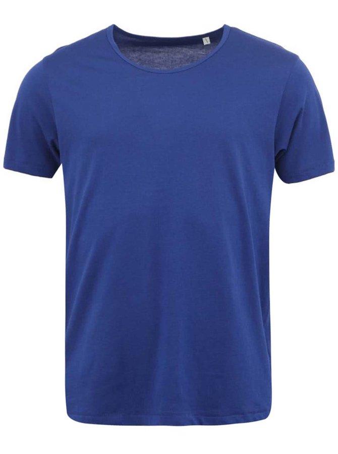 Sýto-modré pánske tričko Stanley & Stella Adores