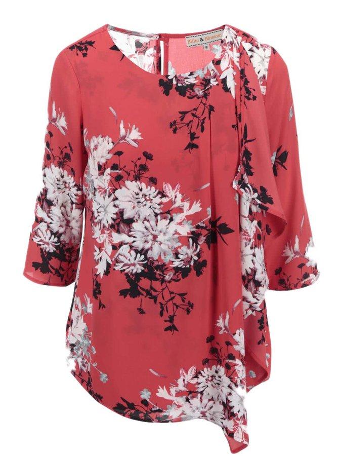 Bluză roșie cu motive florale Dorothy Perkins