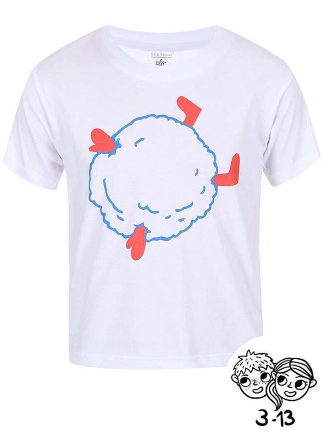 Biele detské tričko ZOOT Kids Sněhová koule