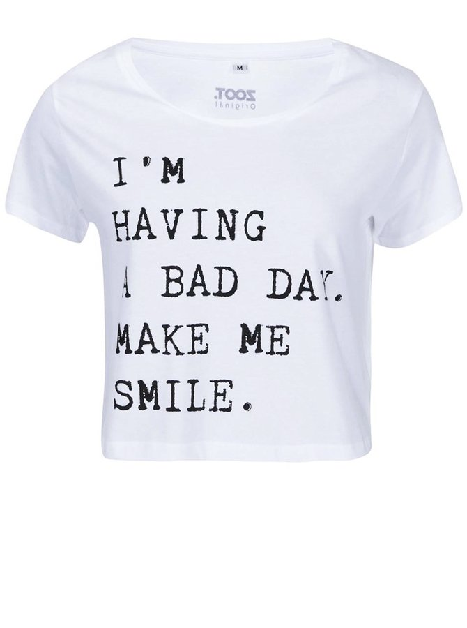 Tricou ZOOT Original Bad Day alb de damă