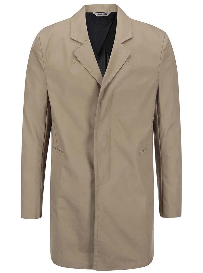 Béžový kabát ONLY & SONS Loren