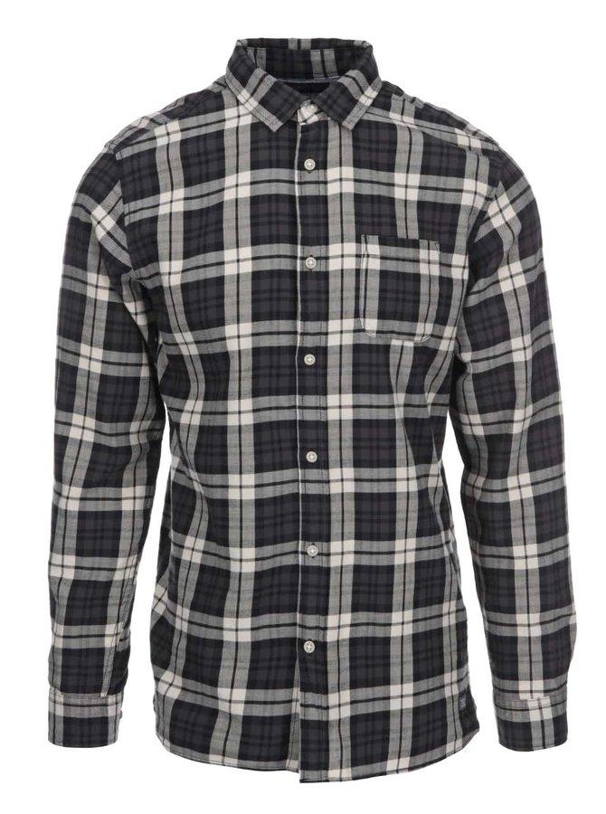 Krémovo-černá kostkovaná košile Jack & Jones Rikki