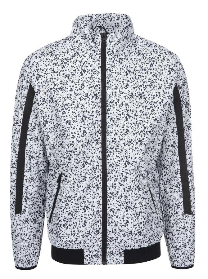 Bílá vzorovaná bunda Jack & Jones Neet