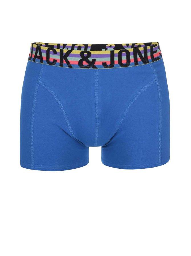 Modré boxerky s barevným lemem Jack & Jones Mix