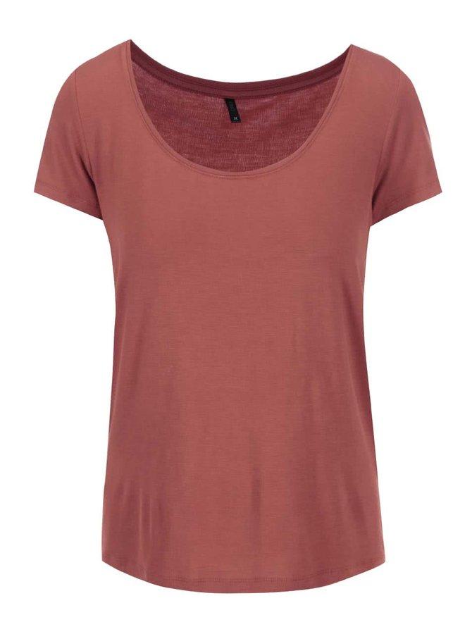 Tricou roșu cu decolteu rotund ONLY Jewel