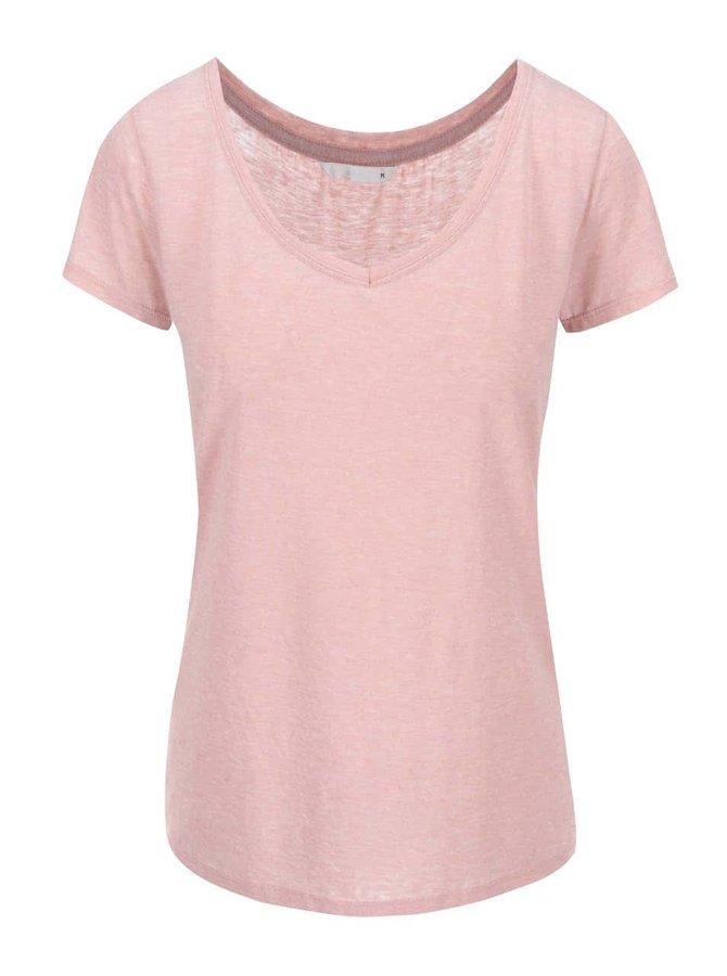 Růžové tričko s krátkým rukávem ONLY Truly