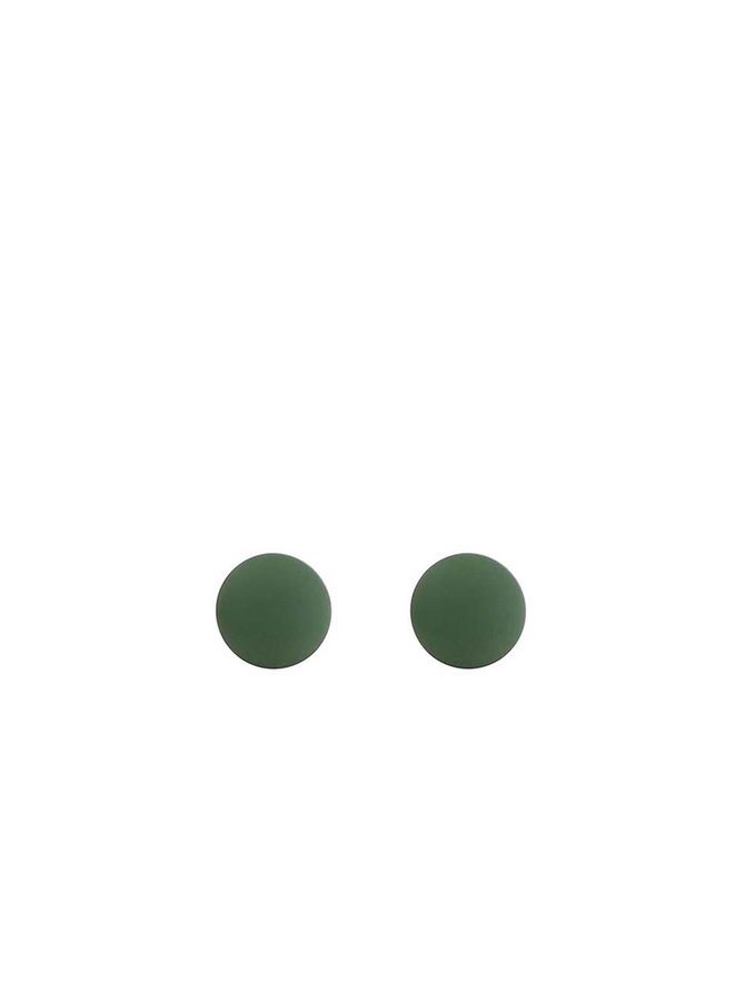 Zelené matné náušnice Pieces Junni