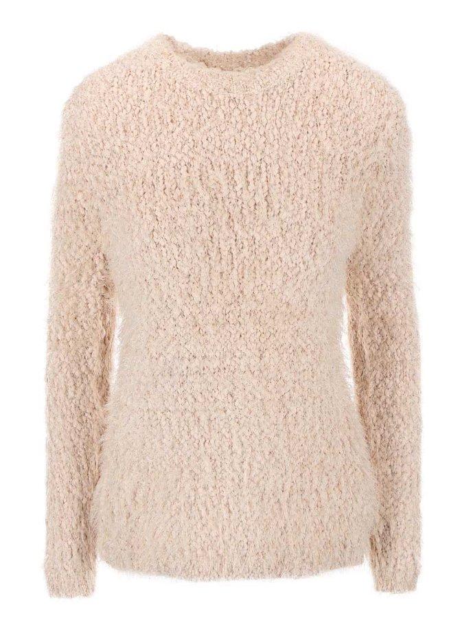 Béžový svetr se zipem na zádech Haily´s Amy