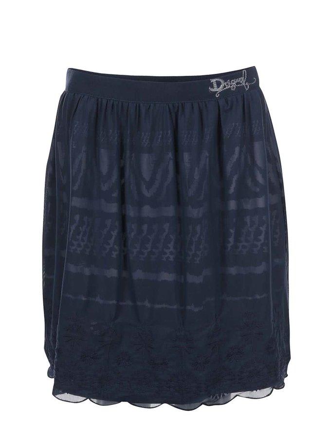 Modrá šifónová sukňa Desigual Aetos
