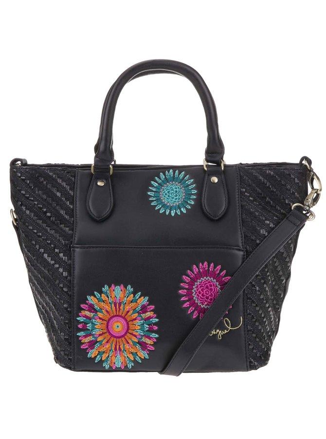 Čierna kabelka s farebnými vzormi Desigual Florida