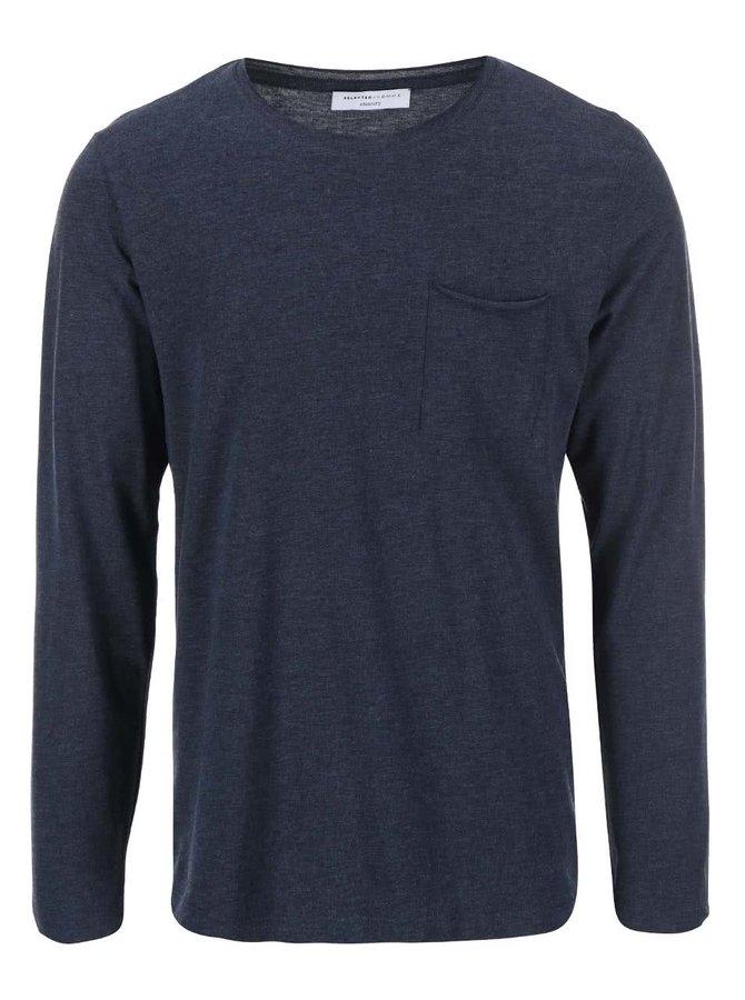 Bluză cu mânecă lungă bărbătească bleumarin Selected Homme Florence